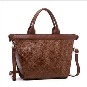 Boutique-Pink Haley Electra shopping tote in Brown